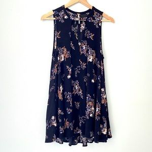 FREE PEOPLE Tree Swing Floral Tunic - S